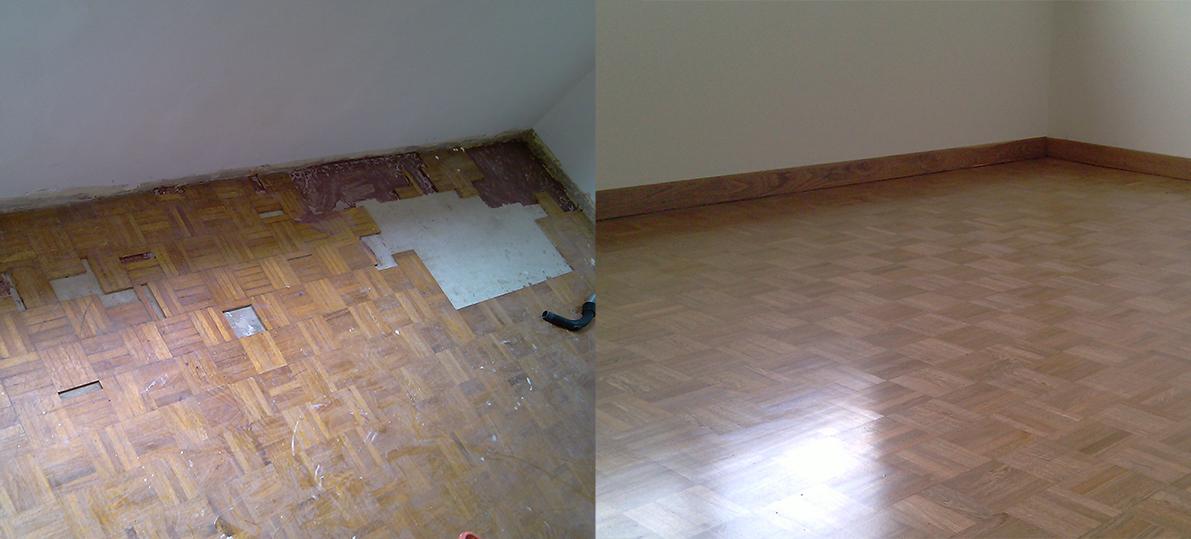 Piso de parquet pulido de piso de parquet preparar el - Como instalar piso parquet ...